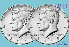 2019 P&D KENNEDY HALF DOLLAR SET CLAD TWO COINS SET UNCIRCULATED PRESALE MAY 01