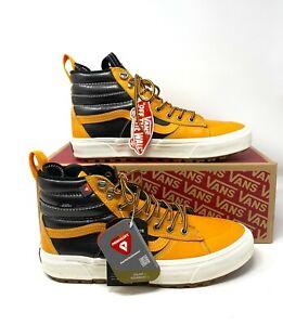 Vans Sk8 Hi Top MTE 2.0 Dx Yellow Brown Black Boot Sneaker Men's VN0A4P3I2NF