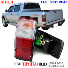TOYOTA HILUX TIGER MK4 MK5 1998-2004 TAIL LIGHT REAR LAMP RED CLEAR PAIR TRUCK