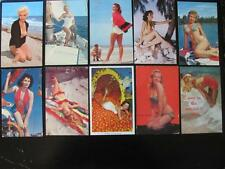 10 1950s-'60s Sexy Erotic Bikini Swimsuit Pin-Up Girls Marilyn Vintage Postcards