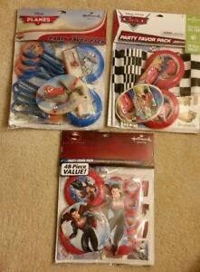 Hallmark Party Favor Pack Disney Cars Planes or Superman 48 Pieces NEW