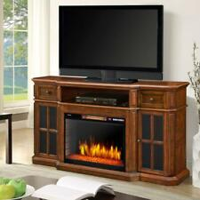 Sinclair 60 in. Bluetooth Media Electric Fireplace Tv Stand in Aged Cherry