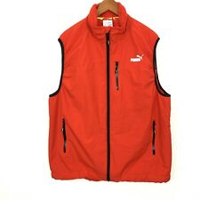 PUMA Volvo Ocean Race Round World RED Vest Men's Sz XL WIND-STOPPER Fleece Lined