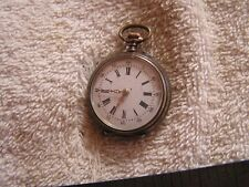 Antique Silver .800 Cylindre 10 Pocket Watch Women's