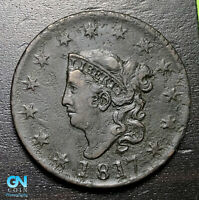 1817 Coronet Head Large Cent   --  MAKE US AN OFFER!  #B3656