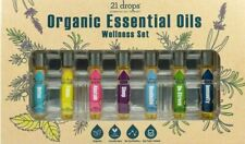 21 Drops Essential Oil Therapy Organic Essential Oils Wellness Set, New in Box