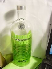 Absolut Pears Vodka 1 LITER  EMPTY BOTTLE