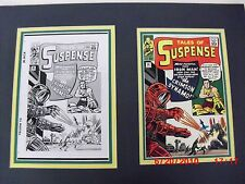 Production Art JACK KIRBY DON HECK Tales of Suspense #46 matted w/cover print