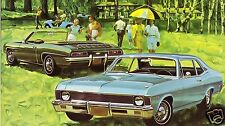 "5x7""photo REPRINT GM CHEVROLET ADVERTISING 1969 NOVA/ 68 CAMARO RAGTOP"
