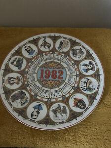 Wedgwood Calendar Collectors Plate 1981 'Horses'(430)