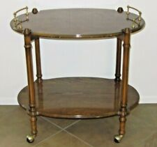 Vintage Mid Century Wood Tea Trolley Tea Cart Bar Cart Wooden Vintage Cart