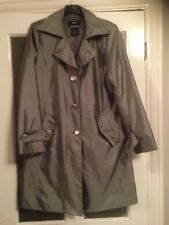 STUNNING DENNIS BY DENNIS BASSO - GREY COAT - TRENCH COAT - SIZE:  XSMALL