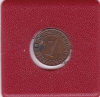 1 Pfennig 1923 J Deutsches Reich German Empire Rentenpfennig 15° Stempeldrehung