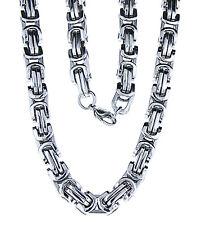 dicke schwere Edelstahl Königskette, eckig, 8,4 mm dick, 60 cm, Kette Halskette