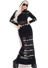 MEXTON By Alina Damenkleid Sexy Partykleid Maxikleid Clubkleid 34 - 38 #D250