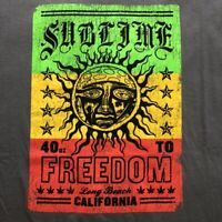 Sublime T-Shirt NWT Rasta Official Licensed Ska Punk Rock Band Music Tee L NEW