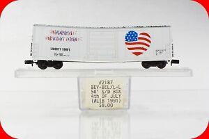 N Scale USA Happy 4th of July, American Liberty & Freedom Box Car - Bev-Bel 2187
