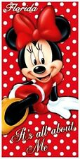 """Disney Minnie Mouse """"All About Me"""" Velour Beach Towel"""
