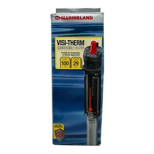 (New) Marineland Visi-Therm Submersible Heater 100 Watts up to 29 Gallon
