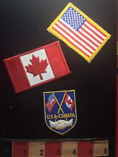 Canada & United States Flag Patch Lot ~ Canadian And American Flags S74P
