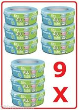 Sangenic Tommee Tippee 6 Pack Nappy Bin Disposal Refill Cassettes Twist & Click