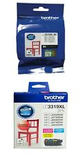 4 Inks SET Brother Genuine 1x LC3319XLBK BLACK + 1x LC3319XL3PK C/M/Y Color Pack