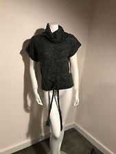 Kenji Alpaca Wool Blend Women's Grey Roll Neck Turtleneck Sweater A13 SZ Small