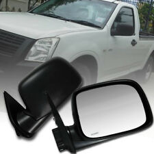 SIDE DOOR MIRROR MANUAL BLACK FIT FOR ISUZU D-MAX DMAX RODEO 2002-2011