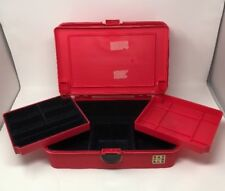 Vintage Caboodles Makeup Large Case 3-Area Cosmetic Organizer Pink Red 2420