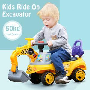 DE Kinderbagger Sitzbagger Spielzeug Bagger Rutscher Sandbagger Rutschauto Licht