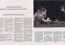 PUBLICITE ADVERTISING 094 1975 CANON 3 cameras 310XL 514XL 512XL (2 pages)