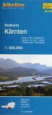 Bikeline Radkarte Österreich Kärnten 1:100 000 (Land-)Karte Deutsch 2017