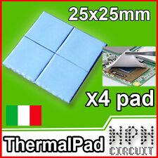4x PAD TERMICO Thermal Pad 25x25x1mm Pasta Termica Alta Dissipazione