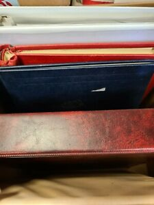 Accessories  box of odds ends albums binders etc (q22)