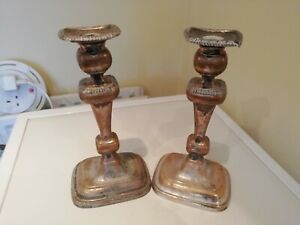 Pair Of Silver Plated Candlestick Holders