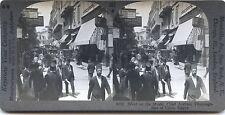 Rue au Caire Egypte Photo Stéréo Stereoview Vintage