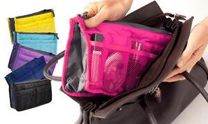 Women Handbag Purse Organiser Insert Liner Travel Bag Portable Purse Pouch UK!