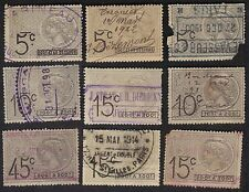 France Revenue Stamps Mauritanie 1915 Revenues Fiscals OV668? Used Lot 9