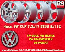 4 Cerchi Volkswagen Cup 7.5x17 Golf Beetle Transporter Passat Wheels Felgen TÜV