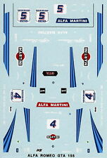 ALFA ROMEO 155 GTA N°4/5 MARTINI  SUPERTURISMO 1992 DECALS 1/43