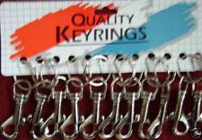 4 CLIP ON HIPSTER  KEY RINGS TRIGGER HOOK METAL KEY RING large