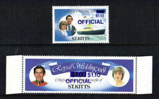 St KITTS 1981 ROYAL WEDDING BLUE ERROR OVERPRINT SHOULD BE BLACK MNH