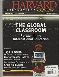 Harvard International Analyse Revue Été 2013, The Global Classe