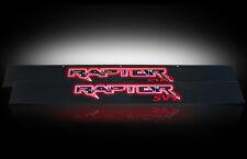 RECON FORD SVT RAPTOR ILLUMINATED DOOR SILLS BLACK ANODIZED w/ RED LIGHTS 09-14