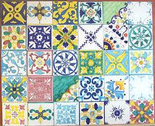 Lotto 30 Mattonella Piastrella 10x10 ceramica Vietri TILE maiolica COMP 40