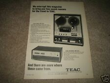 Teac A-6010 As-200 Amp and Open Reel Ad from 1968
