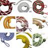 2 Rope curtain tiebacks - slender slinky rope cord drape hold backs fabric ties