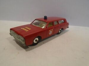 Matchbox No.55 or 73 Mercury Fire Chief Car - Vintage 1968 Lesney Station Wagon