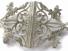 More details for antique birmingham 1900 ornate silver nurses belt buckle birds