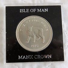 ISLE OF MAN 1975 MANX CAT CROWN - in spink style case